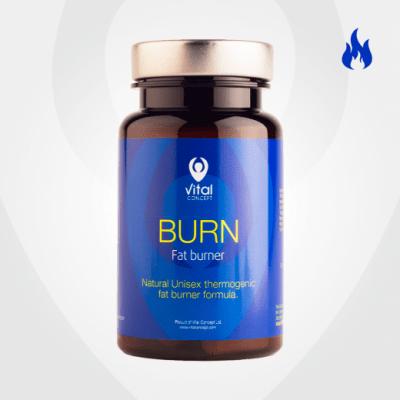 БЪРН - засилва метаболизма и ускорява процесите на отслабване - капсули х 60., VITAL CONCEPT