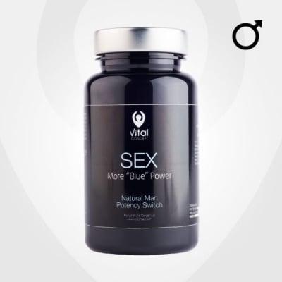 СЕКС - увеличава потентността и желанието за секс - капсули х 60, VITAL CONCEPT