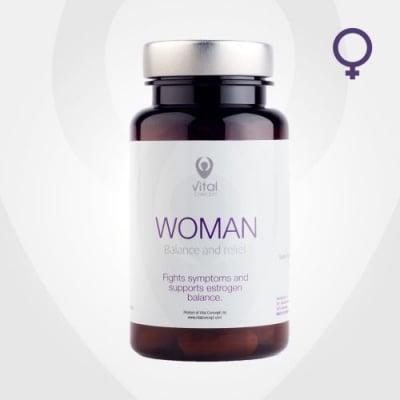 УОМАН - бори се със симптомите на менопаузата - капсули х 60, VITAL CONCEPT