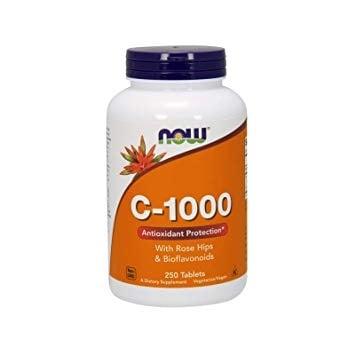 ВИТАМИН Ц - 1000 мг. С ШИПКИ И БИОФЛАВОНОИДИ * 250таблетки, НАУ ФУДС