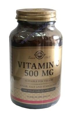 ВИТАМИН С - предпазва клетките от вредното влияние на свободните радикали - капсули 500 мг. х 100 броя, SOLGAR