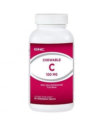 ВИТАМИН Ц 100 мг. * 90дъвчащи таблетки, GNC