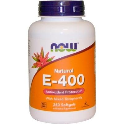 ВИТАМИН Е 400 IU мощен антиоксидант * 250дражета, НАУ ФУДС