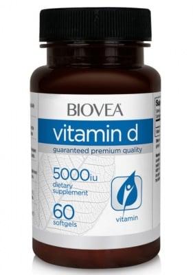 ВИТАМИН Д - понижава високото кръвно налягане - капсули 5 000 IU х 60, BIOVEA