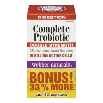 Пълноценен пробиотик - За поддържане на правилно храносмилане и подсилване на имунната система - капслули х 40, WABBER NATURES