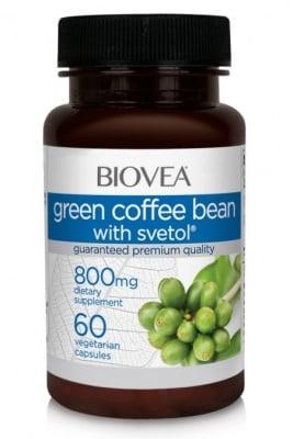 ЗЕЛЕНО КАФЕ + СВЕТОЛ - за пречистване,отслабване и поддържане на здравословни нива на кръвна захар - капсули 800 мг. х 60, BIOVEA