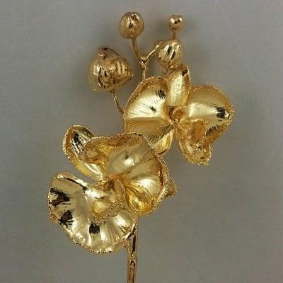 Посребрена Орхидея и частично позлатена по галваничен път