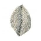 Висулка метална листо 32x21x2.5 мм дупка 2 мм цвят сребро -5 броя