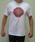 ПЪРВА ЧАКРА (МУЛАДХАРА) – тениска – бяла, унисекс