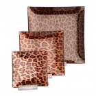 ПОДЛОЖКИ ЗА СВЕЩИ КОМПЛЕКТ 3 БРОЯ - леопардов декор, NEW WISH STUDIO