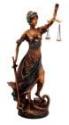 СТАТУЯ БОГИНЯ ТЕМИДА, 55 см.- истина и справедливост, COSMOPOLIS