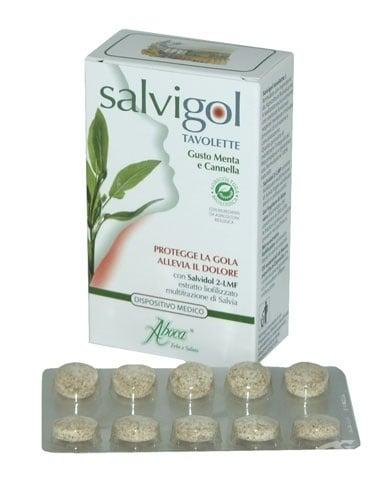 САЛВИГОЛ - успокоява болките в гърлото - таблетки х 30, ABOCA