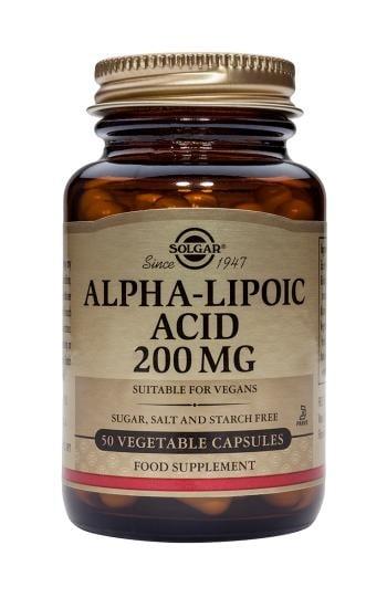 АЛФА ЛИПОЕВА КИСЕЛИНА 200 мг. сяросъдържащ антиоксидант * 50 капс., СОЛГАР