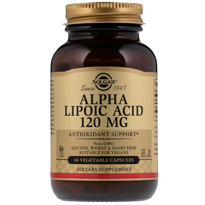 АЛФА ЛИПОЕВА КИСЕЛИНА 120 мг. силен антиоксидант * 60капс., СОЛГАР