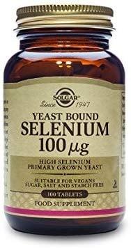 СЕЛЕН - предпазва организма от свободните радикали - таблетки 100 мкг. х 100, SOLGAR