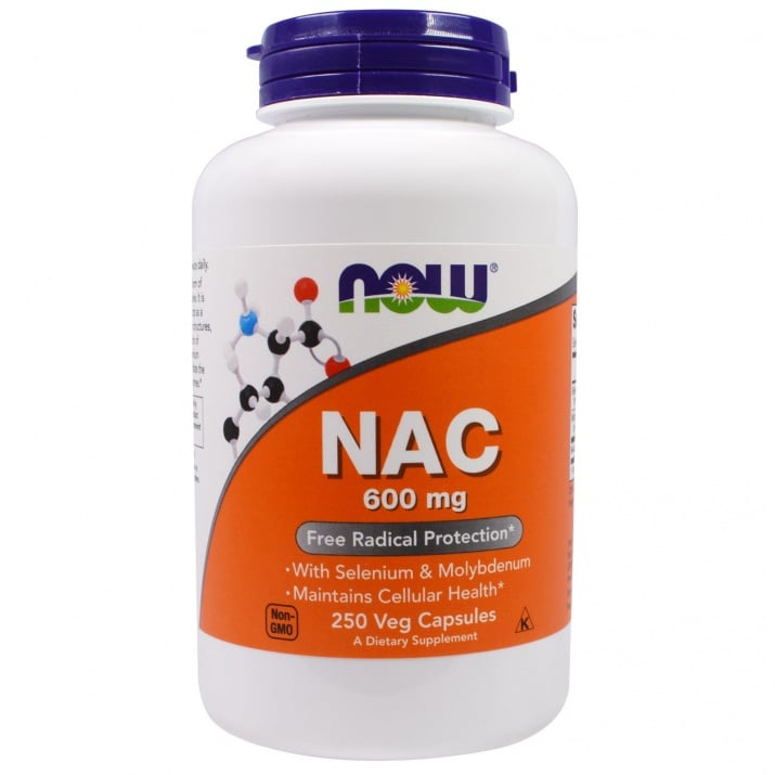 N - АЦЕТИЛ ЦИСТЕИН 600 мг. * 250капс., НАУ ФУДС