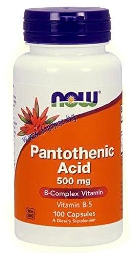 НАУ ФУДС ВИТАМИН Б 5 ПАНТОТЕНОВА КИСЕЛИНА капс. 500 мг. * 100