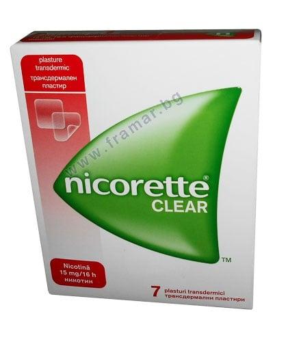 НИКОРЕТ трансдермални пластири 15 мг. / 16 часа * 7