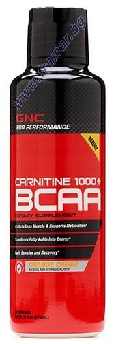 L - КАРНИТИН 1000 + BCAA 473 мл. GNC