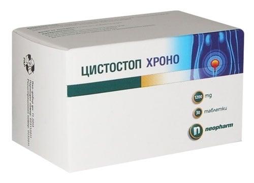 ЦИСТОСТОП ХРОНО табл. 1200 мг. * 30