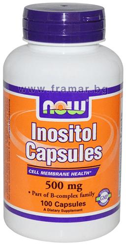 НАУ ФУДС ИНОЗИТОЛ капсули 500 мг. * 100