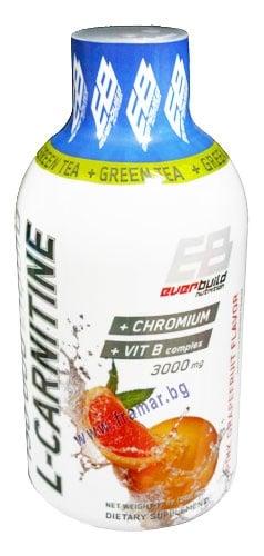 L - КАРНИТИН ТЕЧЕН 3000 мг + ХРОМ + ВИТАМИН Б КОМПЛЕКС + ЗЕЛЕН ЧАЙ с вкус на грейпфрут 500 мл