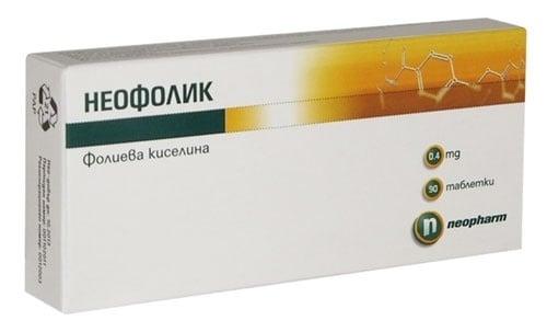 НЕОФОЛИК  табл.  0.4 мг. * 90