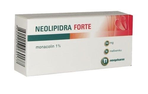 НЕОЛИПИДРА ФОРТЕ табл. 240 мг. * 30