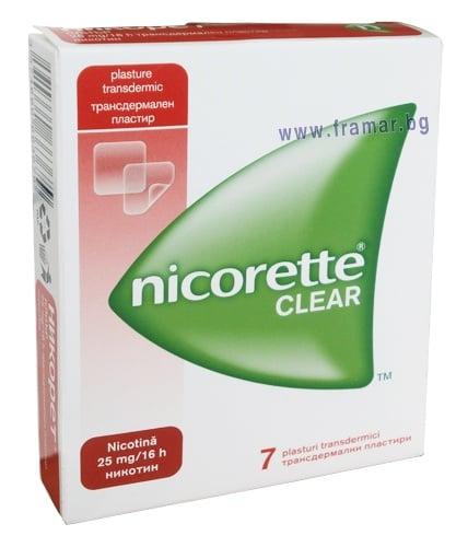 НИКОРЕТ трансдермални пластири 25 мг. / 16 часа * 7