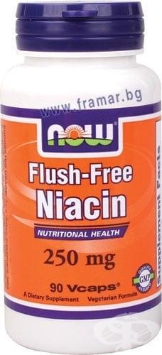 НАУ ФУДС НИАЦИН ФЛАШ ФРИЙ капс. 250 мг. * 90
