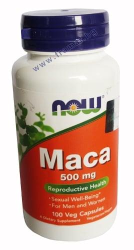 НАУ ФУДС МАКА капсули 500 мг * 100