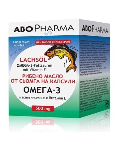 АБОФАРМА ОМЕГА 3 МАСЛО ОТ СЬОМГА капс. 500 мг. * 120