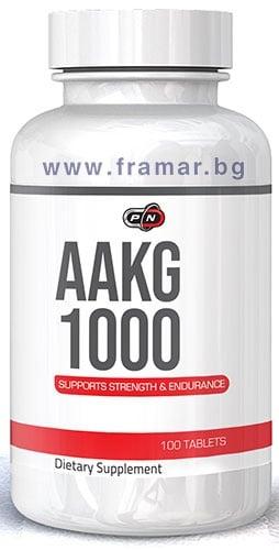 ПЮР НУТРИШЪН АРГИНИН АЛФА - КЕТОГЛУТАРАТ (AAKG) таблетки 1000 мг * 100