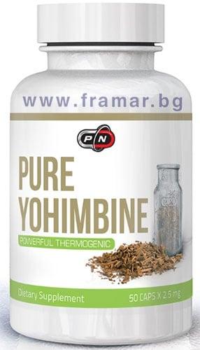 ПЮР НУТРИШЪН 100% ЙОХИМБЕ капсули 2.5 мг. * 50