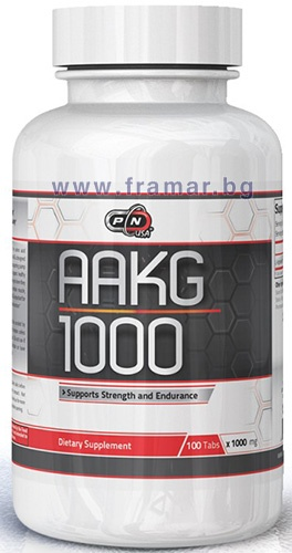 ПЮР НУТРИШЪН АРГИНИН АЛФА - КЕТОГЛУТАРАТ (AAKG) таблетки 1000 мг. * 100