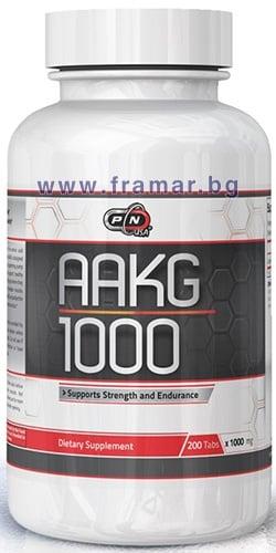 ПЮР НУТРИШЪН АРГИНИН АЛФА - КЕТОГЛУТАРАТ (AAKG) таблетки 1000 мг. * 200