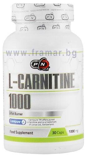 ПЮР НУТРИШЪН L - КАРНИТИН капс. 1000 мг. * 30