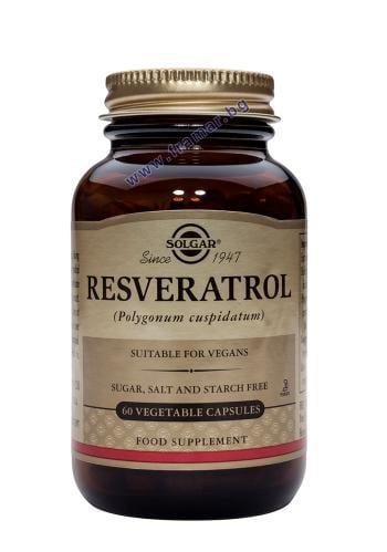 СОЛГАР РЕСВЕРАТРОЛ капсули 100 мг. * 60