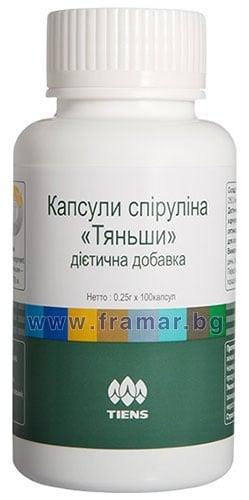 СПИРУЛИНА капсули 350 мг * 100 TIENS