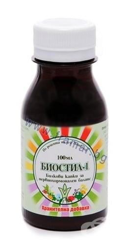 БИОСТИЛ - 1 БИЛКОВИ КАПКИ ЗА НЕРВНО - ХОРМОНАЛЕН БАЛАНС  100 мл. ПАШКУЛЕВ
