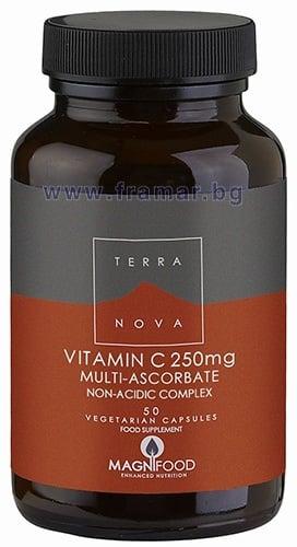 ТЕРАНОВА ВИТАМИН Ц КОМПЛЕКС капсули 250 мг. * 50