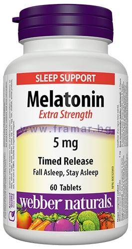 МЕЛАТОНИН TR таблетки 5 мг. * 60 УЕБЪР НАТУРАЛС