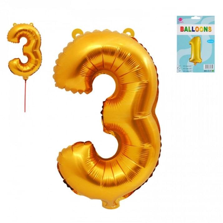 Балони - Цифри /фолио/ Балон - Цифра 3