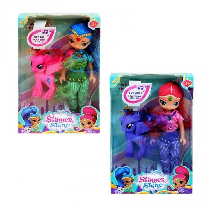 """Кукла """"Искрица и Сияйница"""" с пони."""
