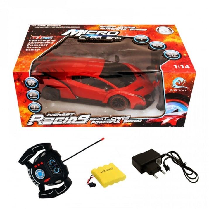 Симулационна спортна кола с радио контрол 1:14, COSMOPOLIS Симулационна спортна кола с РК 1:14 /червен/