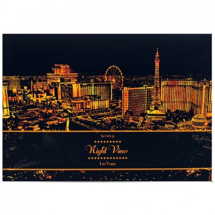 """Скреч листи Нощен изглед Скреч листи """"Нощен изглед на Лас Вегас"""""""