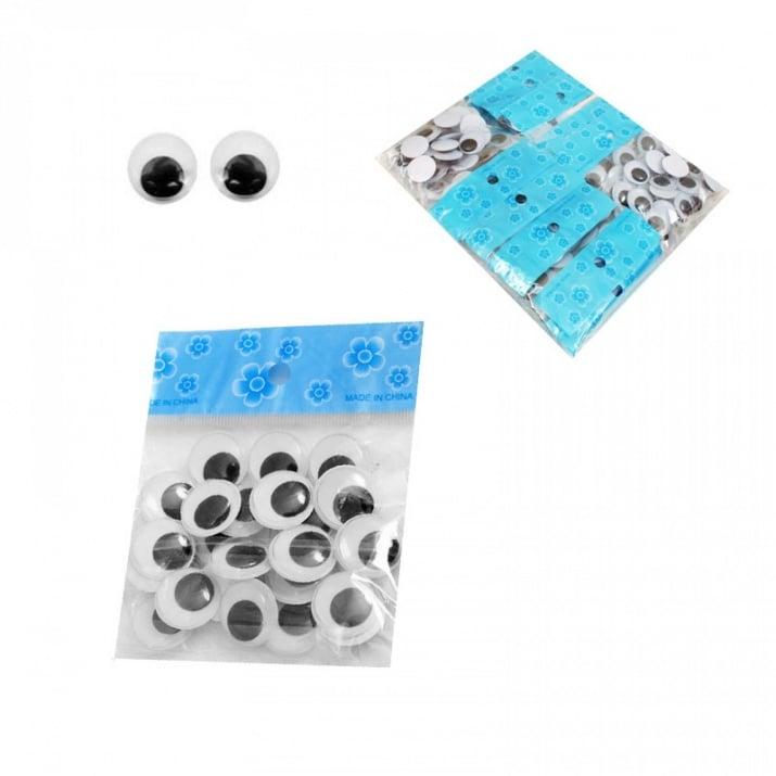 Мърдащи очички /Ф 2 см. - 25 броя/