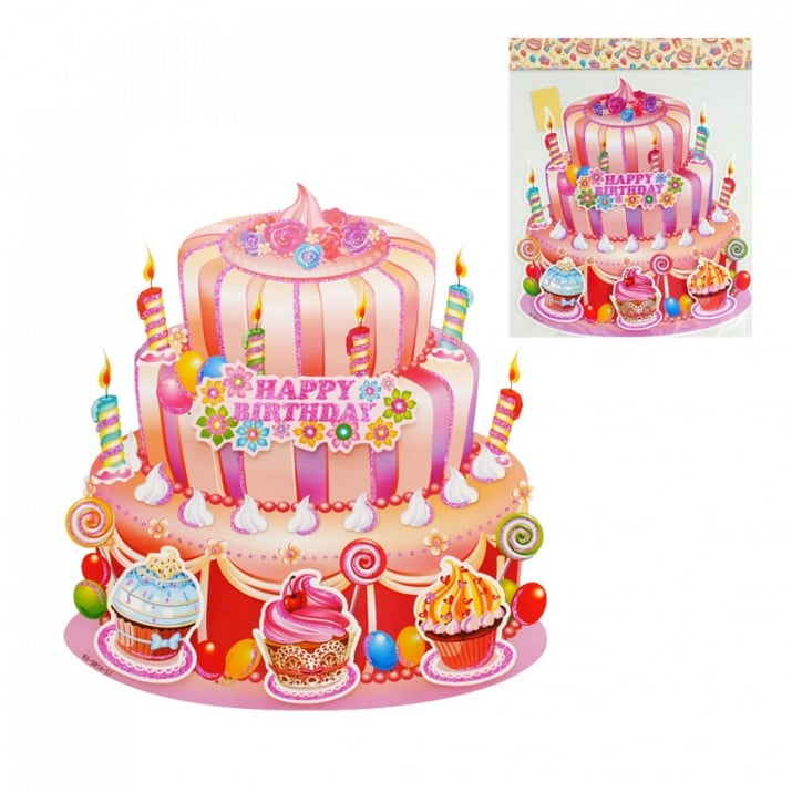 "Парти украса 3D HAPPY BIRTHDAY Парти украса 3D ""HAPPY BIRTHDAY"""