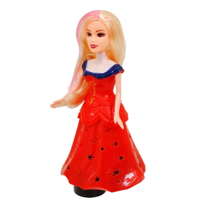 Принцеса с чупещи се ръце /на батерии/. Принцеса с чупещи се ръце /червен/