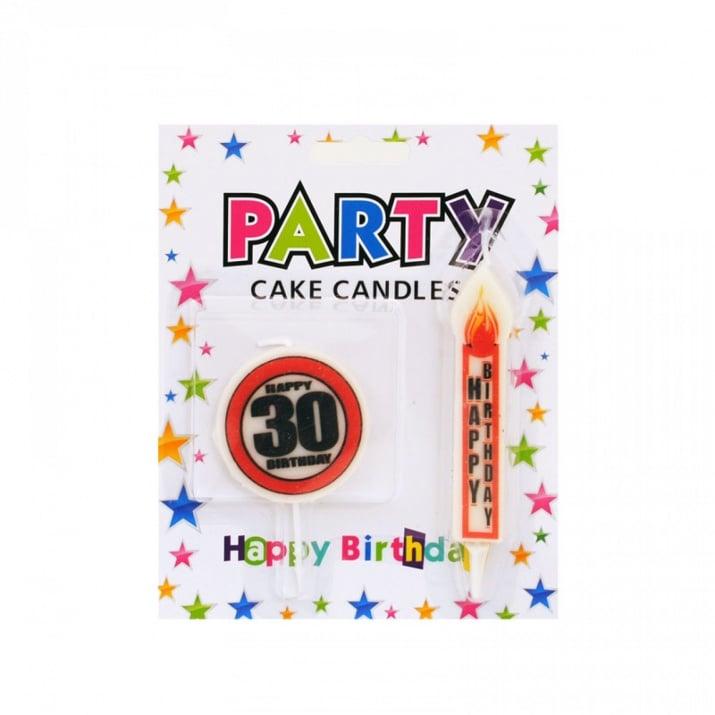"""Юбилейни свещи HAPPY BIRTHDAY /знак и свещичка/ Юбилейни свещи """"HAPPY BIRTHDAY"""""""